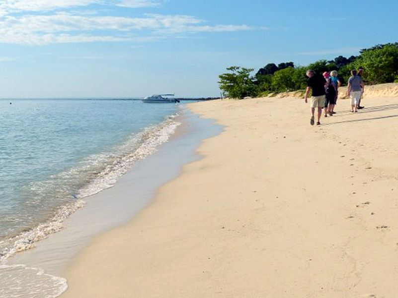 On the beach at Turtle Island in the Sulu sea -  Photo Eleanor Rogers